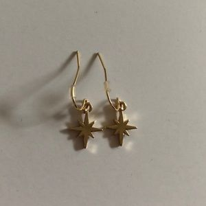(2/$15) Pointed Star/Compass Drop Earrings